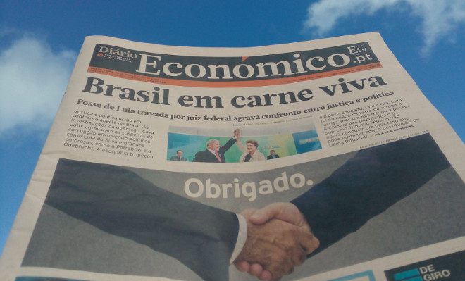 Portuguese financial daily last printed edition