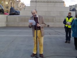 Alberto Portugheis Speech at the Trafalgar Square in London