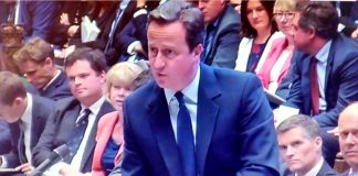 David Cameron at the House of Commons following the EU referendum.