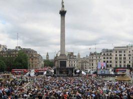 Event on birthday of Jo Cox in Trafalgar Square on 22 June 2016.