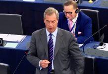 Nigel Farage at the EU parliament.