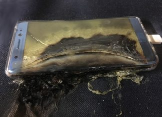 Exploded Samsung note7.