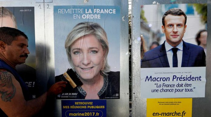 Marine Le Pen VS Macron in French elections second round.