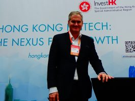 Invest HK Deputy Head of Fintech, Thorsten Terweiden, at Money Conf in Madrid.