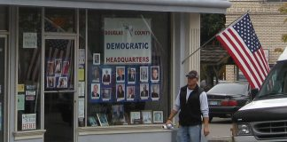 Douglas County Democratic Party headquarters. Photo by: Democratic Headquarters - Downtown Roseburg, Oregon.