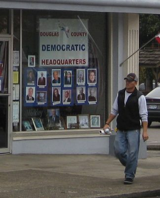 Douglas County Democratic Party headquarters. Photo by: Democratic Headquarters - Downtown Roseburg, Oregon.