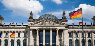 German Bundestag in Berlin.