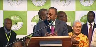 Kenyatta wins Kenyan elections.