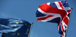 United Kingdom and Euro flag.