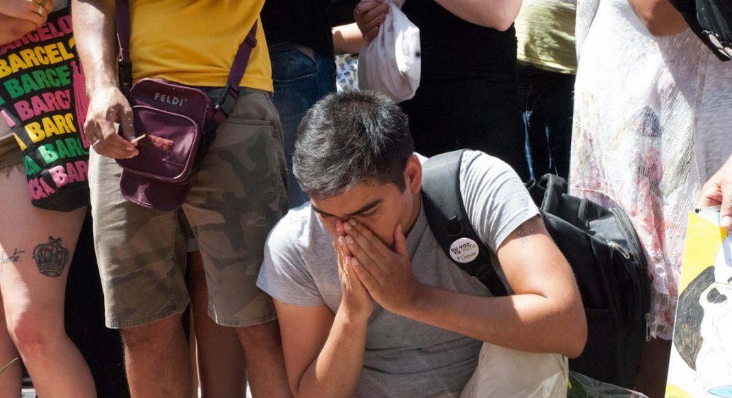 Sorrow in Las Ramblas Memorial