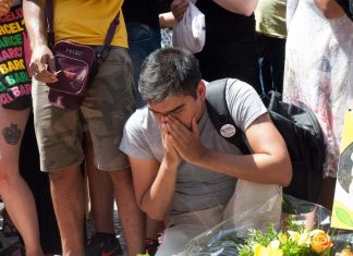 Sorrow in Las Ramblas Memorial
