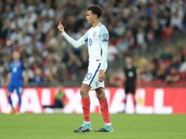 Dele Alli playing fir England.