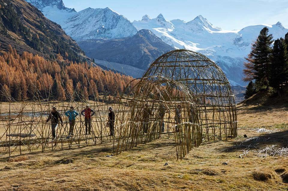 Ice Stupa Making in Switzerland