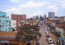 The centre of Kigali, Rwanda.