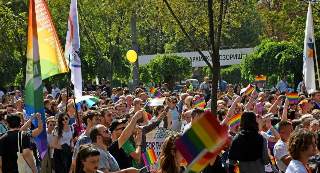 Serbia gay parade, 2017.