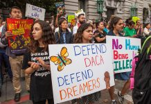 DACA rally in San Francisco. Photo by: Pax Ahimsa Gethen