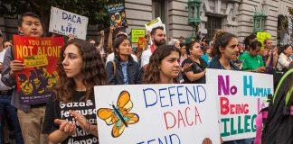 DACA rally in San Francisco. Photo by: Pax Ahimsa Gethen