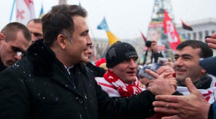 Georgian ex-President, Mikheil Saakashvili, in Kiev.