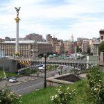 Independence square in Kiev, Ukraine.