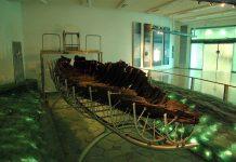 "Kibbuz Ginosar: ""Jesus boat"" at the Yigal Allon Center. Photo by: Berthold Werner"