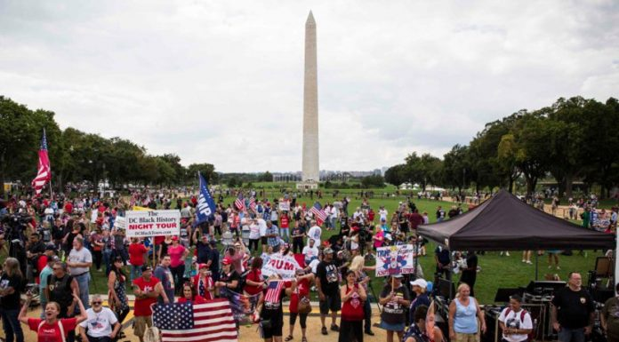 """Mother of all rallies"" Trump supporters on September 16th."