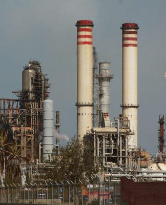 Amuay oil refinery in Venezuela