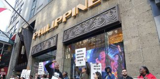 New York city Philippines Consulate drug war protest