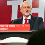 Jeremy Corbyn speaking at the Labour-Party general election