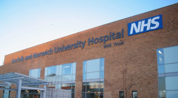 Norfolk and Norwich University Hospital.