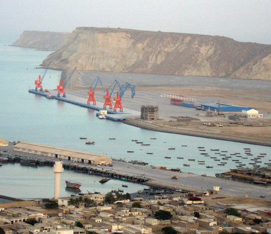 Gwadar Port in Pakistan was leased to China for 43 years, under the CPIC treaty. Photo by: J. Patrick Fischer.