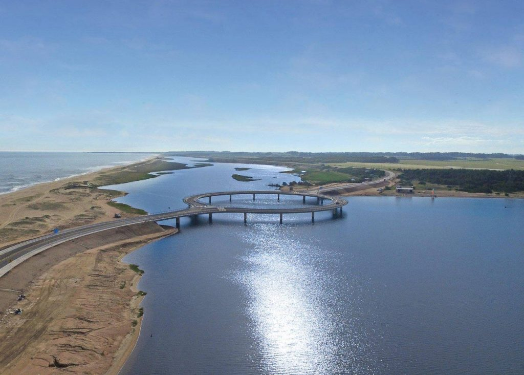 Eduardo Costantino's new bridge connects Punta del Este to the province of Rocha.