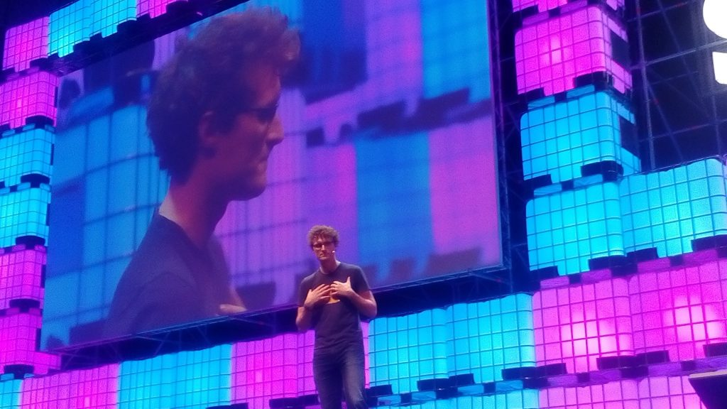 """Web Summit is all about networking"", Paddy Cosgrave at the Web Summit opening night. Photo by: Miguel Salvado."