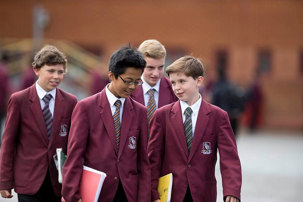 Sutton Grammar School. Lower school pupils. Photo by: Grempletonian.