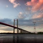 Zárate–Brazo Largo bridge and power lines crossing the Paraná River between the cities of Zárate, Buenos Aires Province, and Brazo Largo in Argentina. Photo by: Darcacha.