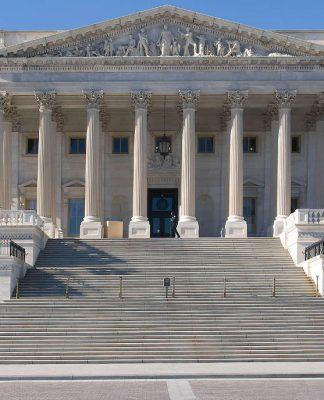 US Senate building, Washington DC. Photo by: Ron Cogswell.