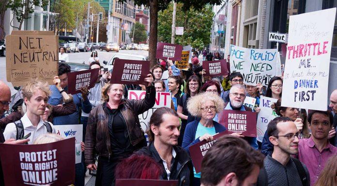 Protect Net Neutrality rally, San Francisco. 12 September 2017. Photo by :Credo Action.