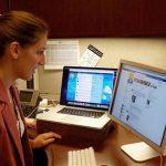 Girl on the Internet using social media. Photo by: Walton LaVonda, U.S. Fish and Wildlife Service.