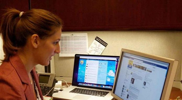 Girl on the Internet using social media. Photo by: Walton LaVonda, U.S. Fish and Wildlife Service.