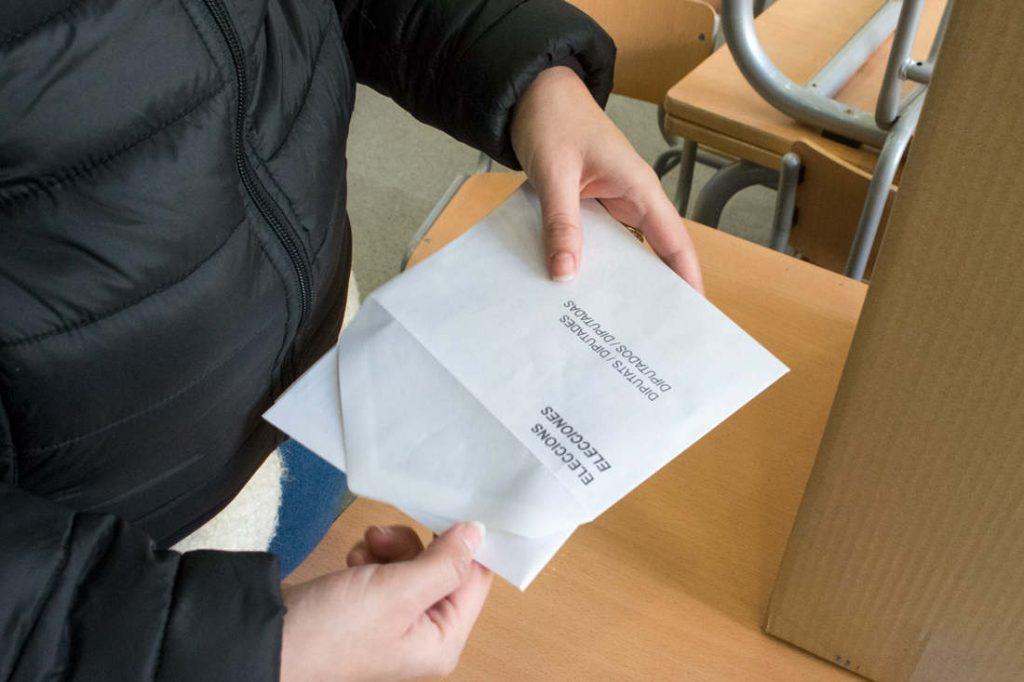 Envelopes and ballots. Photo by: Evan McCaffrey.