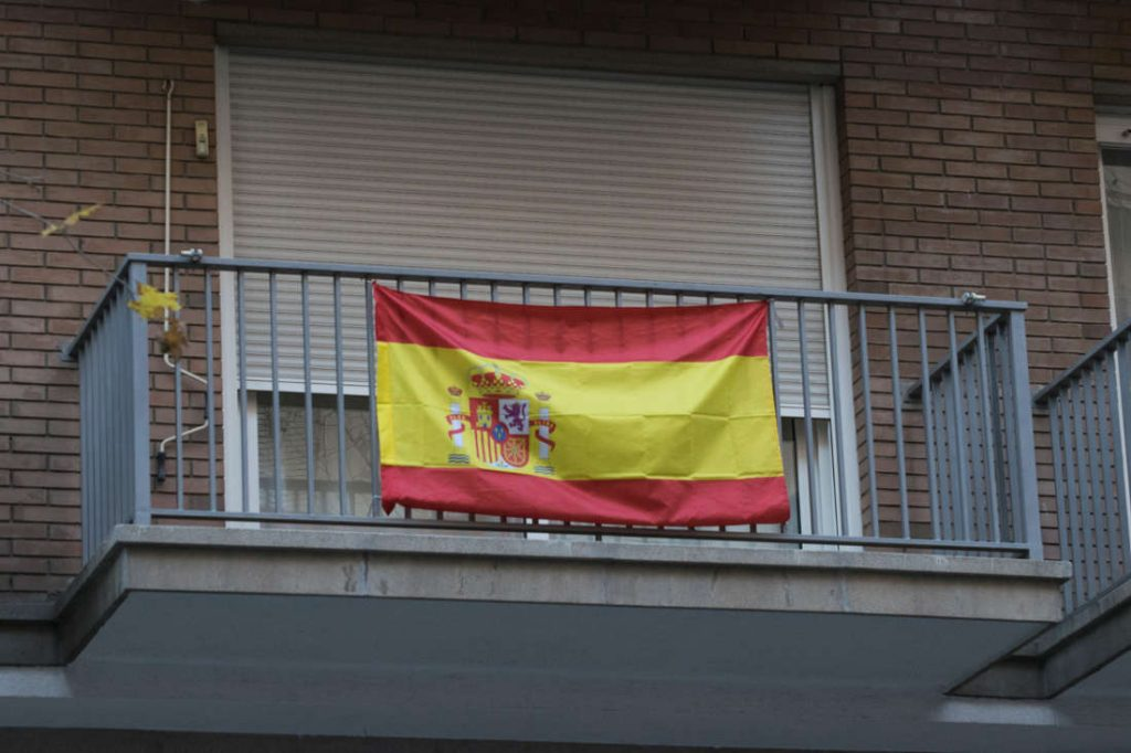 Spanish flag. Photo by: Evan McCaffrey.