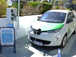 Uruguay: ANCAP electric car charging station.