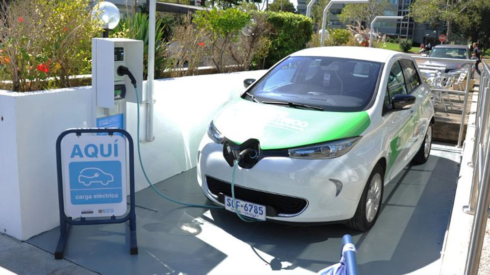 Uruguay: ANCAP electric car charging station.