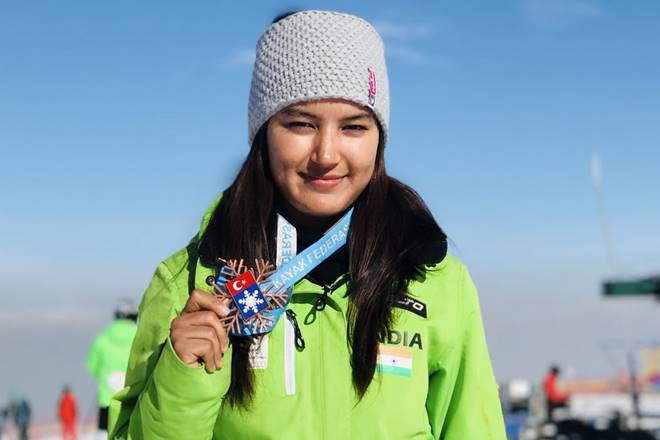 Aanchal Thakur, the first Indian to win a medal in an International Skiing competition held in Turkey. Photo by the official Aanchal Thakur's Instagram account.