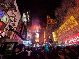 New year's eve in New York city. Photo by: Anthony Quintano.