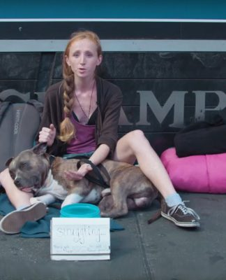 Homeless girl in New York. Image by: Bustle.