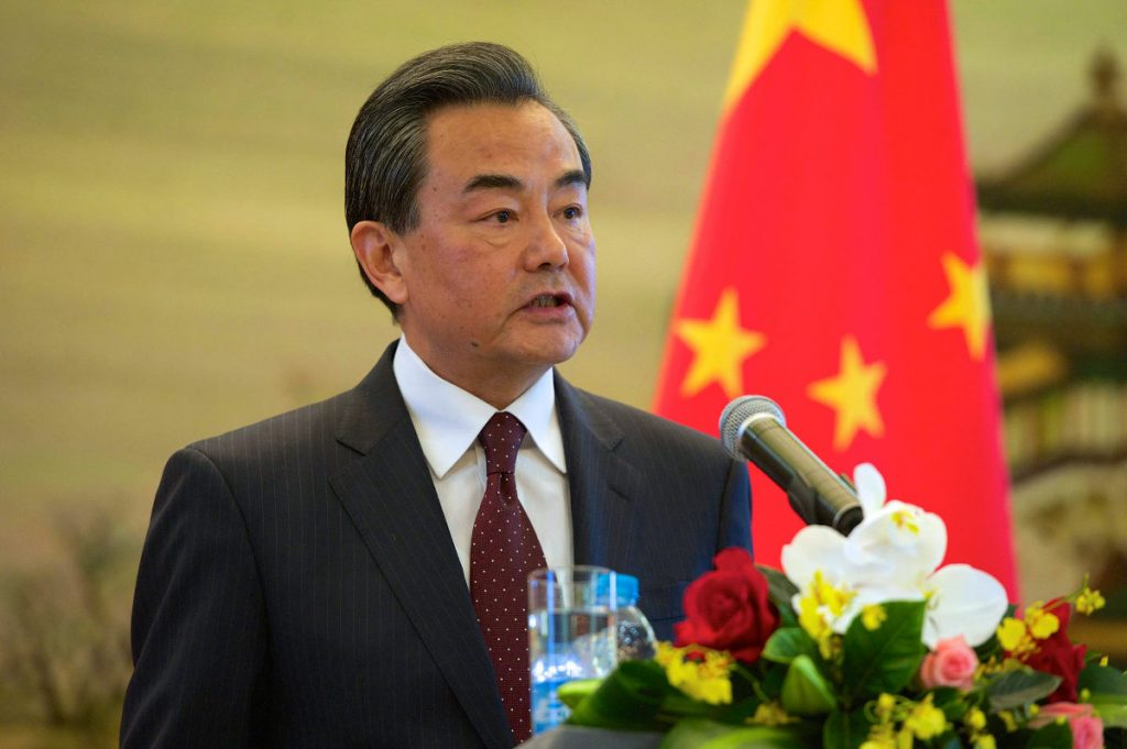 Chinese Foreign Minister Wang Yi addresses reporters, following a U.S. bilateral meeting on May 16, 2015. Photo by: U.S. State Department/Public Domain