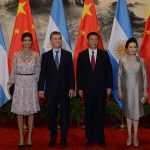 Mauricio Macri, President, and spouse, Juliana Awada, met Xi Jinping, President, and spouse, Peng Liyuan, at the Great Hall of the People in Beijing on 17 May 2017. Photo by: Casa Rosada.
