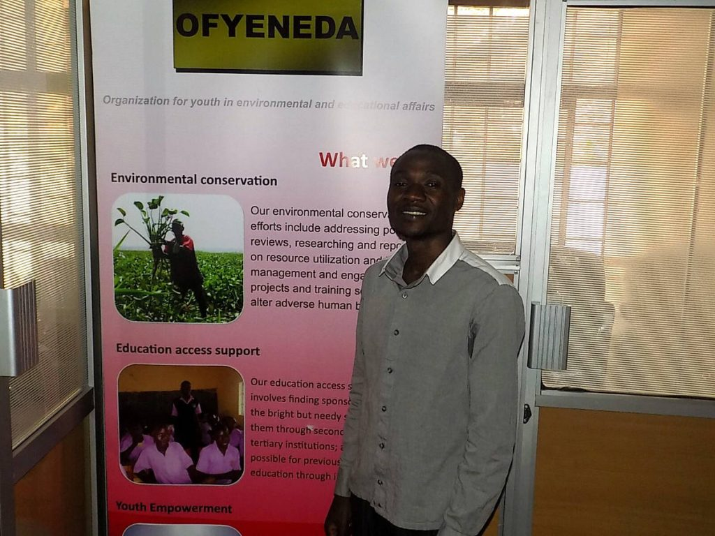 Moses Otieno at Ofyeneda offices in Nairobi. Photo by: Ronnie Evans.