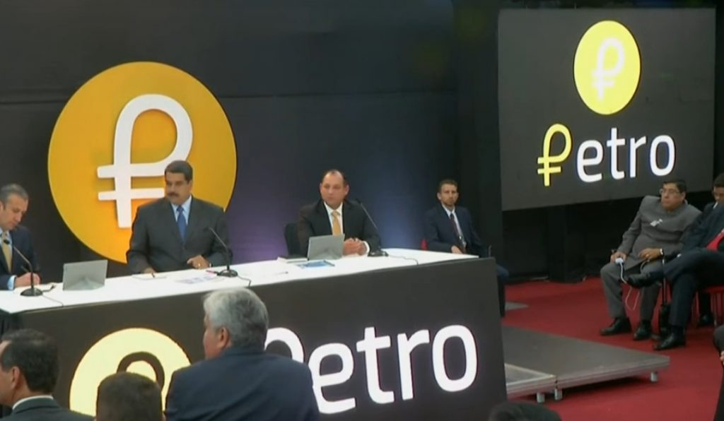 Maduro on Venezuela State TV about the Petro cryptocurrency.