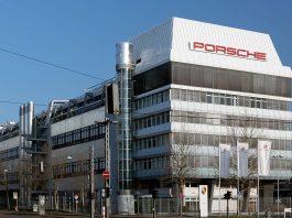 Porsche headquarters in Stuttgart, Germany. Photo by: Morio